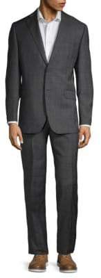 Saks Fifth Avenue Plaid Classic-Fit Wool Suit