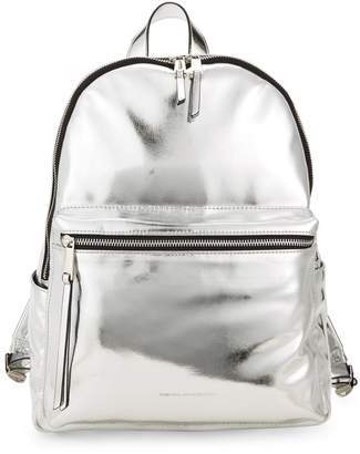 French Connection Metallic Faux Leather Backpack