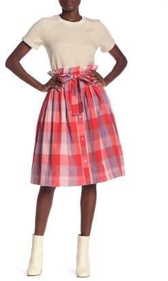 ENGLISH FACTORY Vermillion Checkered Skirt