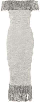 Christopher Kane Metallic jersey dress