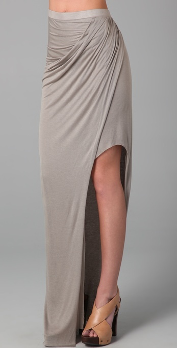 Helmut Lang Asymmetrical Long Skirt