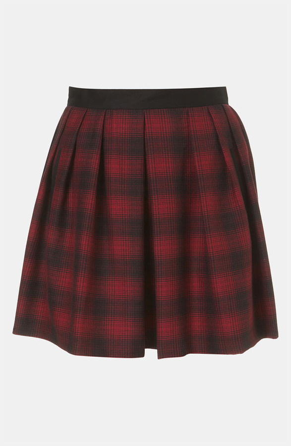 Topshop Plaid Skater Skirt