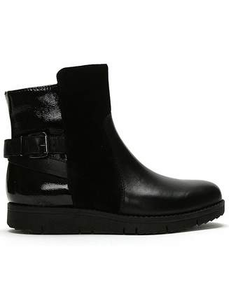Daniel Footwear Daniel Reeva Leather Buckled Ankle Boots