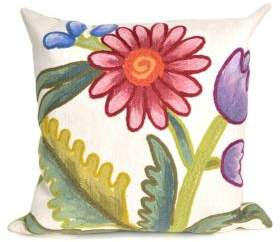 Liora Manné Visions III Gypsy Flower Indoor and Outdoor Square Pillow