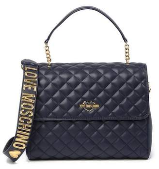 Love Moschino Quilted Foldover Shoulder Bag