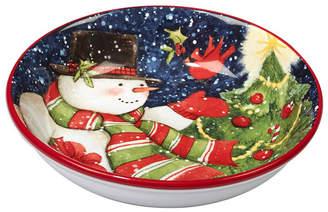 Certified International Starry Night Snowman 4-Pc. Soup/Pasta Bowl