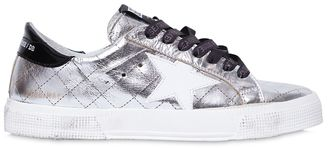 20mm May Metallic Quilted Sneakers $374 thestylecure.com