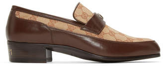 Gucci Beige High Loomis Loafers