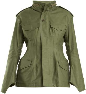 Junya Watanabe Stand-collar cotton military jacket