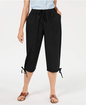 Karen Scott Dahlia Solid Capri Pants
