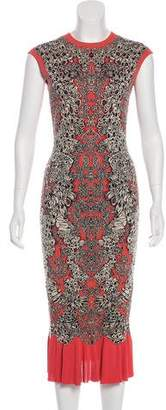 Alexander McQueen Patterned Midi Dress