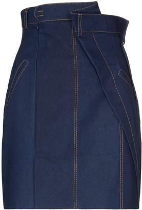 Situationist super high-waisted denim mini skirt