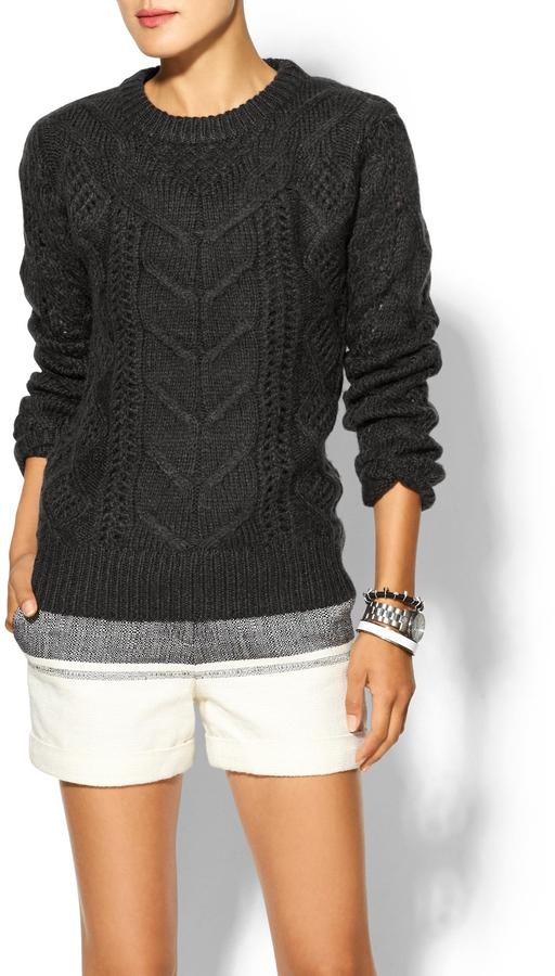 See by Chloe Press Mohair Cable Knit Sweater