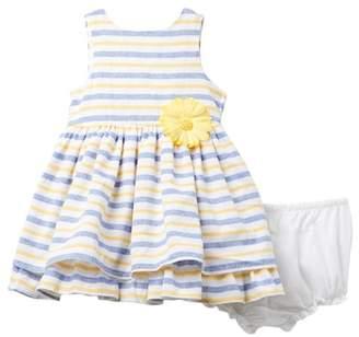 Laura Ashley Yellow Print Dress (Baby Girls)