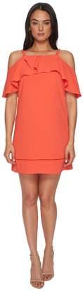 Maggy London 30s Crepe Cold Shoulder Shift Dress Women's Dress