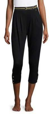 Juicy Couture Cropped Logo Sleep Pants
