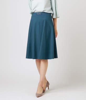 NEWYORKER women's 【クリアランスセール】ストレッチスラブツイル 知的フレアスカート
