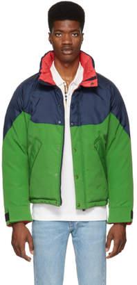 Burberry Reversible Tricolor Down Pendleton Jacket