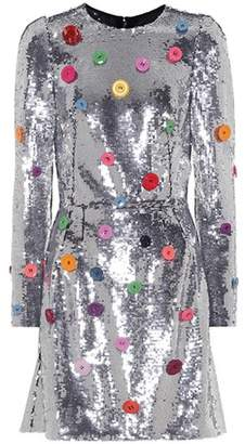 Dolce & Gabbana Button Sequined dress