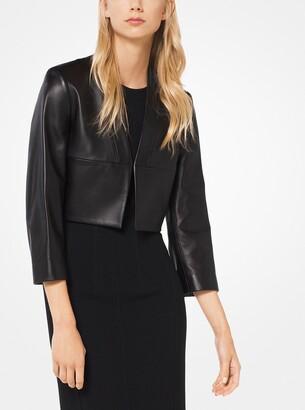 Michael Kors Plonge Leather Bolero Jacket