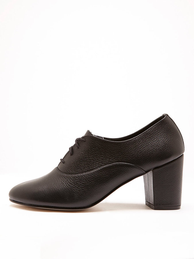 American Apparel High Heel Bobby Leather Lace-Up Shoe