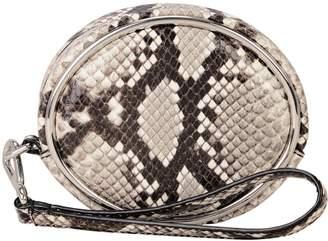 Alexander Wang Halo Circle Snakeskin Wristlet
