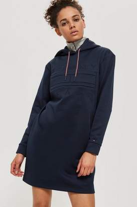 Topshop Logo Hooded Shift Dress by Tommy Jeans