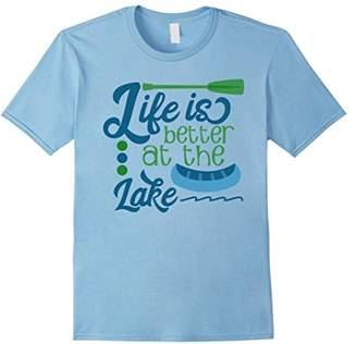 Life is Better at the Lake shirt | canoe fishing swim