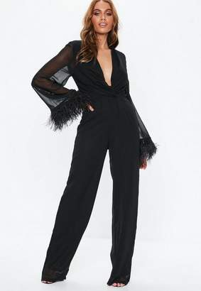 c700407be72 ... at Missguided · Missguided Black Feather Romper