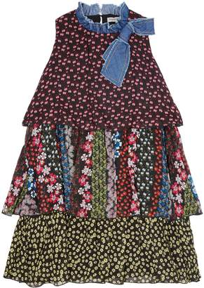 Ermanno Scervino Floral Tiered Dress
