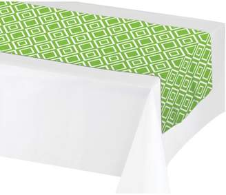 Creative Converting Fresh Lime Green Table Runner, each