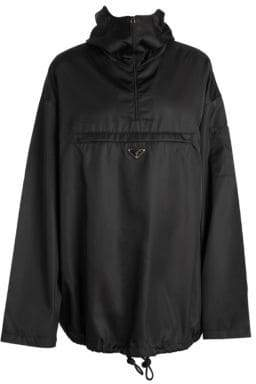 Prada Gab Hooded Nylon Anorak