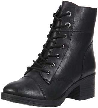 Rampage Krista Womens Lace-Up Chunky Heel Combat Boot Bootie