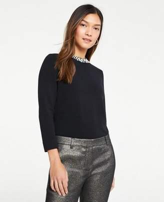 Ann Taylor Petite Necklace Sweater