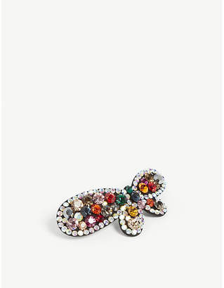 VALET Butterfly crystal-embellished hair clip