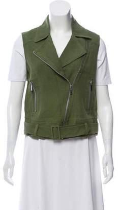 Elizabeth and James Tegan Linen Biker Vest w/ Tags