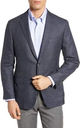 Hickey Freeman Classic Fit Wool & Silk Blazer