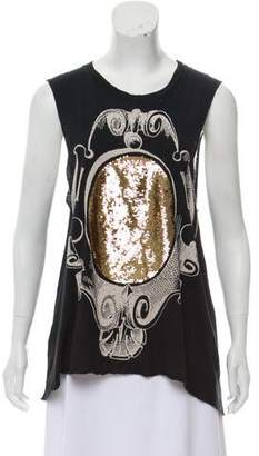 Sass & Bide Embellished Graphic Top