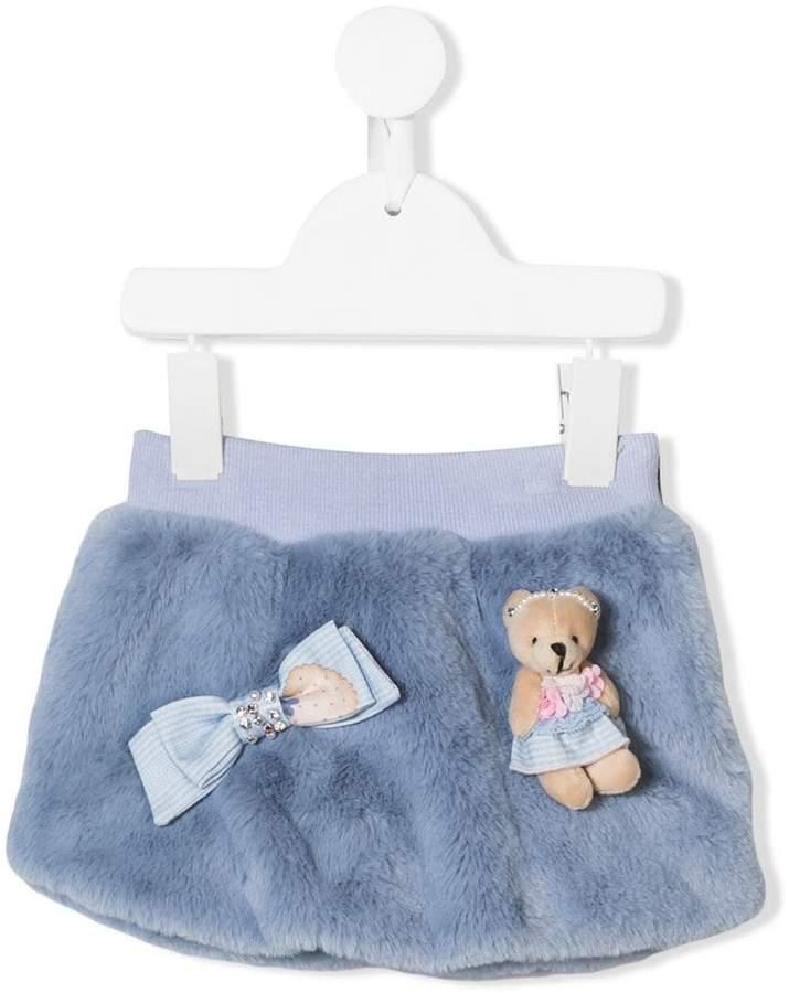Lapin House teddy bear applique skirt