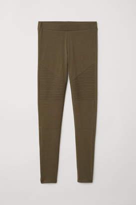 H&M Jersey Biker Leggings - Green