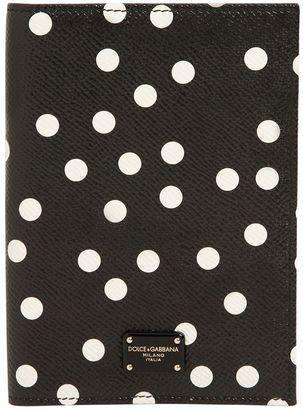 Dolce & Gabbana Polka Dot Leather Passport Holder