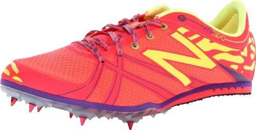 New Balance Women's WMD500 Spike Track Shoe,Pink/Yellow,7.5 B US