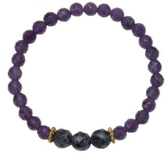 Satya Amethyst & Sodalite Stretch Bracelet