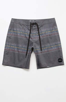 "RVCA Double Vision Stripe 19"" Boardshorts"