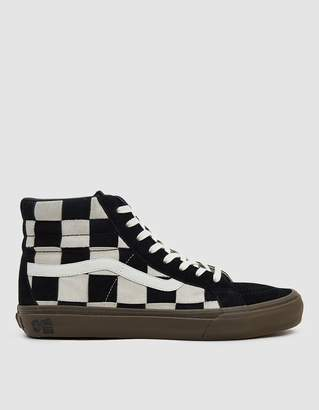 Vans Vault By TH Sk8-Hi LX Woven Suede Sneaker in Checkerboard