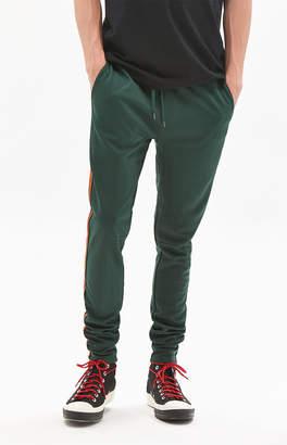 PacSun Drop Skinny 2.0 Tricot Side Stripe Green Pants