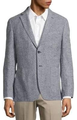 Hardy Amies Textured Notch-Lapel Wool Jacket