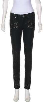 Paige Denim Coated Mid-Rise Jeans