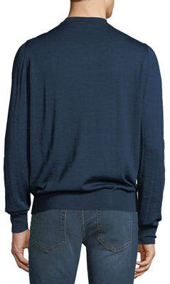 Neiman Marcus Men's V-Neck Long-Sleeve Sweater