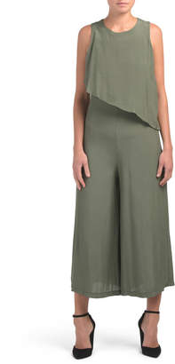 Made In Italy Asymmetrical Popover Jumpsuit